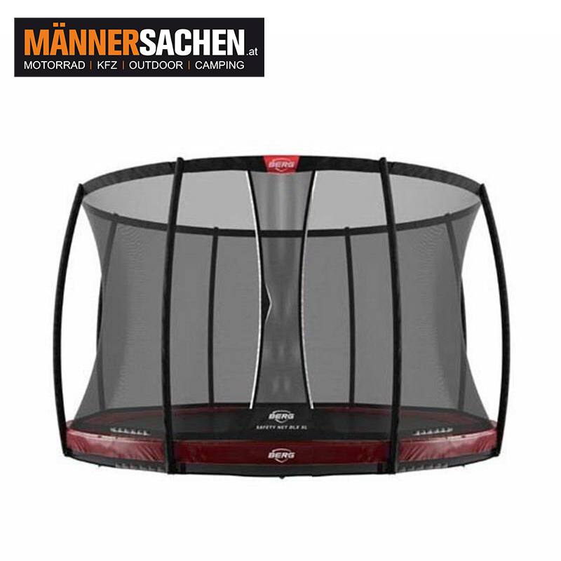 BERG InGround Elite Rot 430 + Sicherheitsnetz DLX XL