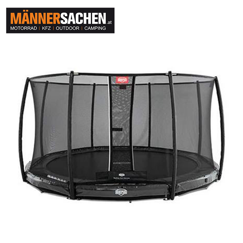 BERG InGround Elite Grau 430 + Sicherheitsnetz DLX XL