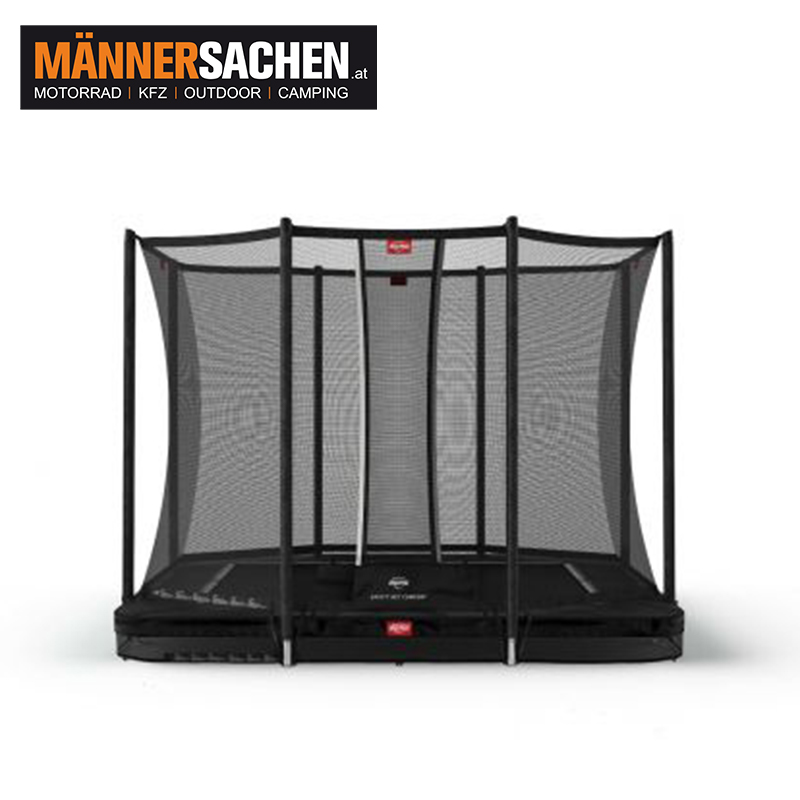BERG Ultim Favorit InGround 280 Black + SICHERHEITSNETZ COMFORT