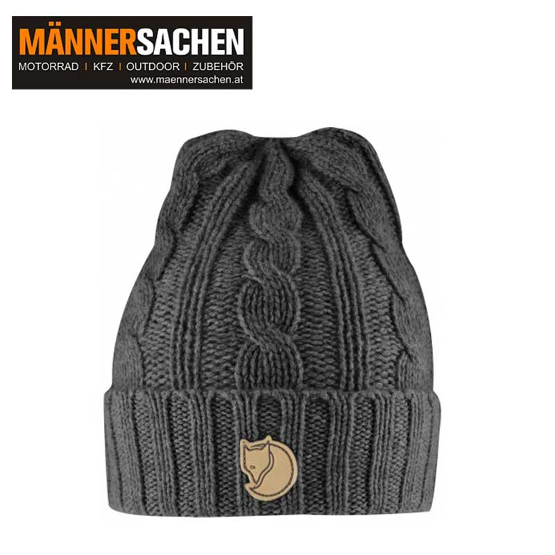 "FJÄLLRÄVEN Haube ""Braided Knit Hat"" dark grey"