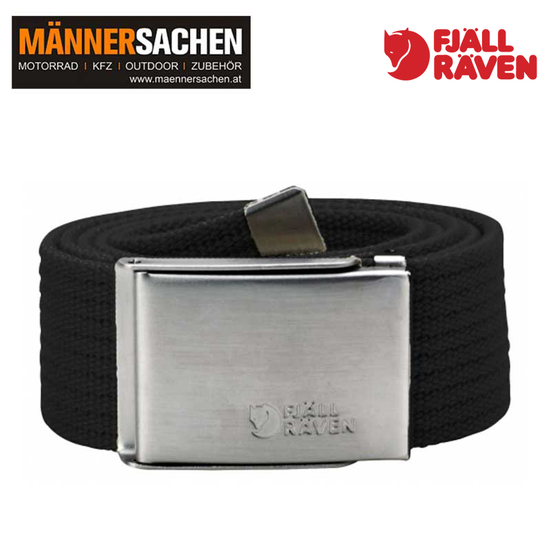 "FJÄLLRÄVEN Gürtel ""Canvas Belt"" black"