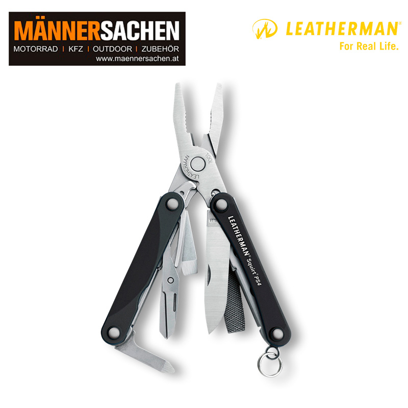 Leatherman Multi-Tool SQUIRT PS4 schwarz in der Box
