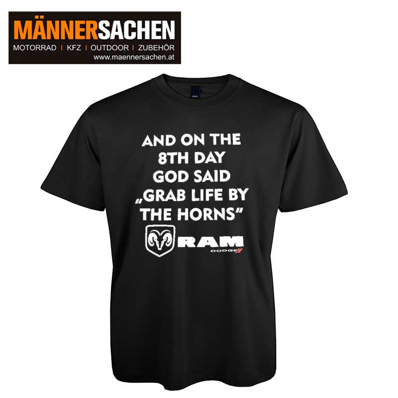 Dodge RAM Fan T-Shirt schwarz